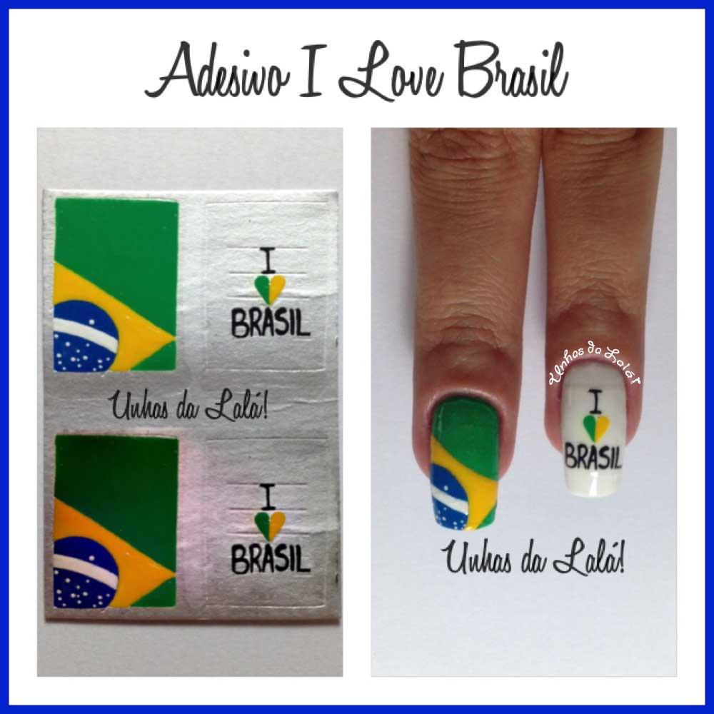 Unhas Decoradas i Love Brasil