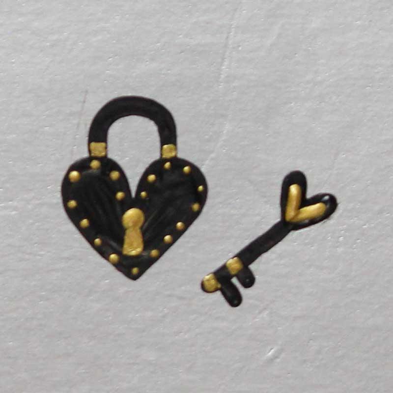 Como Desenhar Coração Cadeado + Chave