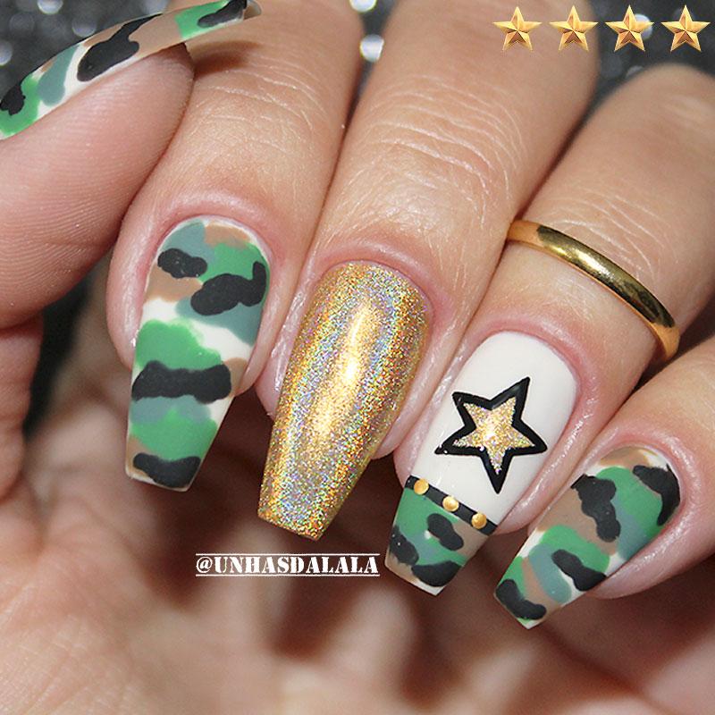 unhas decoradas militar