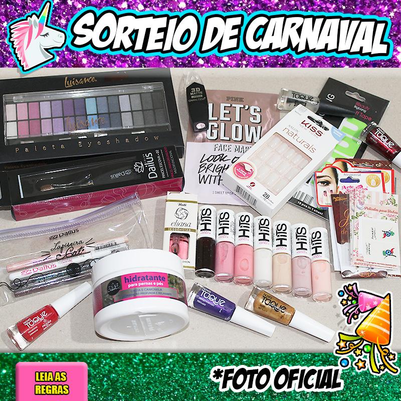 SORTEIO DE CARNAVAL 2018 UNHAS DA LALÁ
