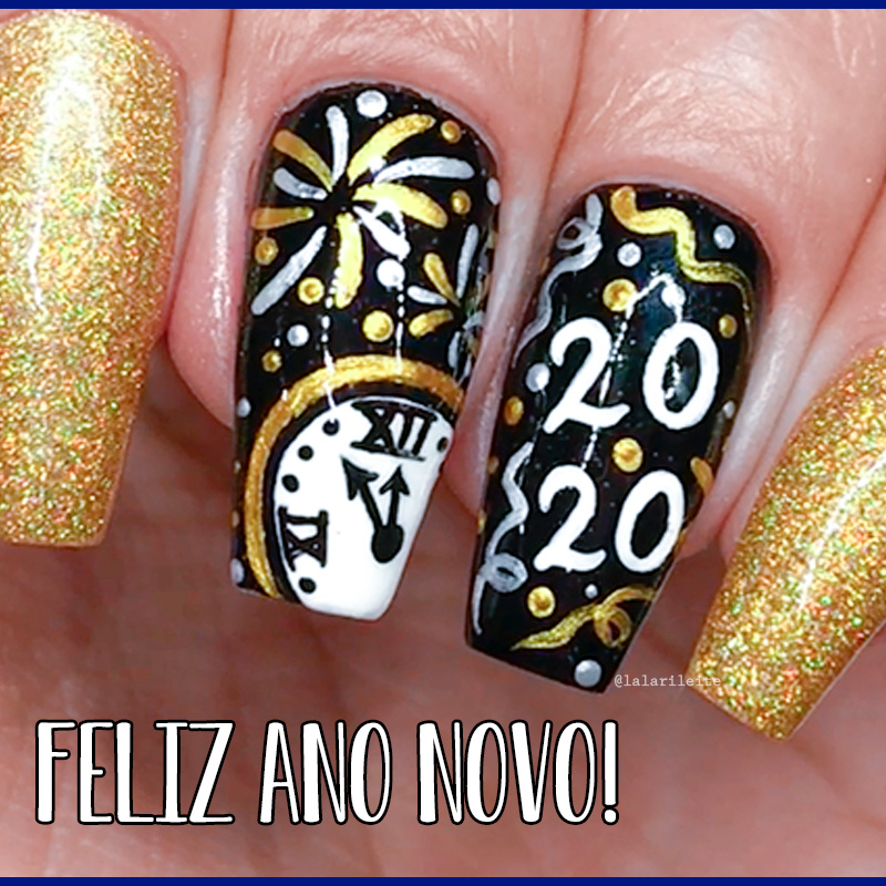 unhas para o ano novo, ano novo, ano novo 2020, unhas 2020, unhas ano novo 2020, unhas decoradas ano novo, happy new year nails, happy new year, larissa leite, unhas da lala, blog da lala, blog larissa leite