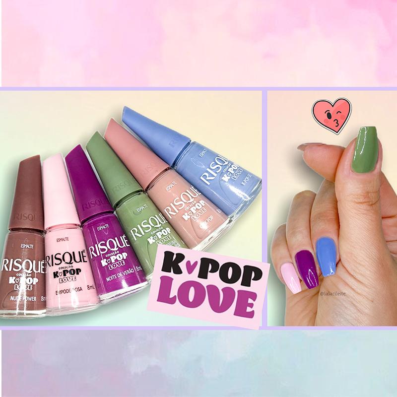 risqué kpop love, esmalte risqué k-pop, esmalte risqué kpop love, kpop, k-pop, k-pop love, kpop love, esmalte kpop, esmaltes k-pop, esmaltes risqué, resenha risqué kpop love, larissa leite, larissa leite unhas